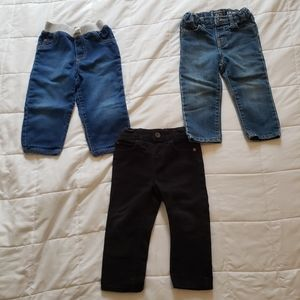 3 pairs of boys jeans